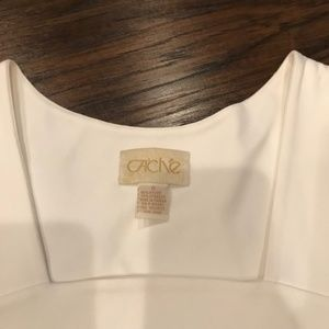 Cache Tops - Cache | white square neck tank top skimmer crop